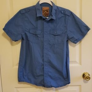 Boy's Red Camel Button up Shirt